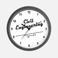 Civil Slope Wall Clock