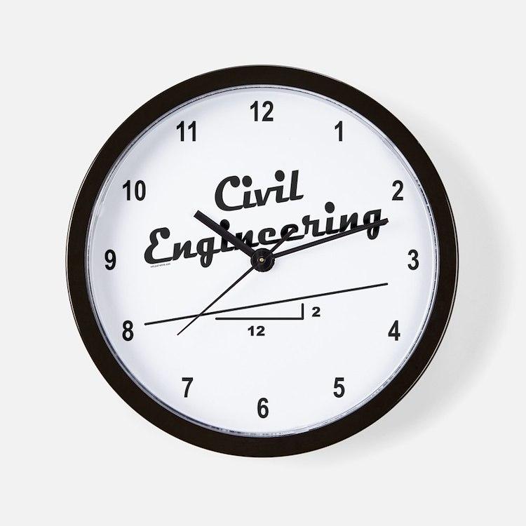 Civil Slope Wall Clock