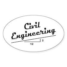 Civil Slope Oval Bumper Stickers