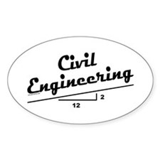 Civil Slope Oval Stickers