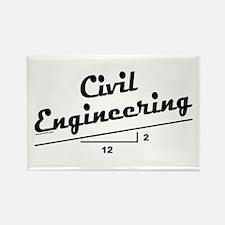 Civil Slope Rectangle Magnet