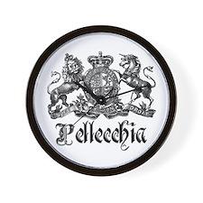 Pellecchia Vintage Crest Family Name Wall Clock
