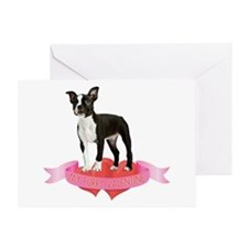 Boston Terrier Valentine Greeting Card