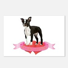 Boston Terrier Valentine Postcards (Package of 8)