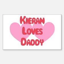 Kieran Loves Daddy Rectangle Decal