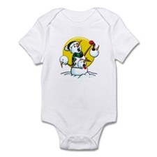 Evil Snowman Infant Bodysuit