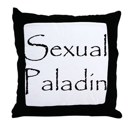 Sexual Paladin Throw Pillow