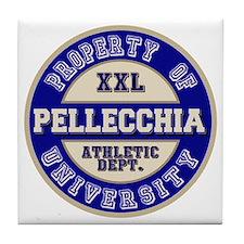 Pellecchia Name Athletic Dept Tile Coaster