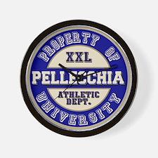 Pellecchia Name Athletic Dept Wall Clock