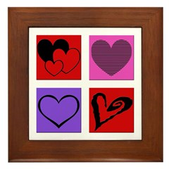 Hearts x4 Framed Tile