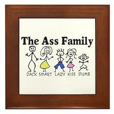 The Ass Family Framed Tile