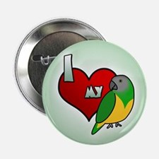 I Love my Senegal Button (Cartoon)