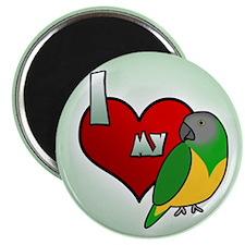 I Love my Senegal Magnet