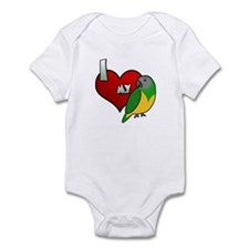I Love my Senegal Baby Bodysuit (Cartoon)