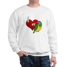I Love my Senegal Sweatshirt (Cartoon)