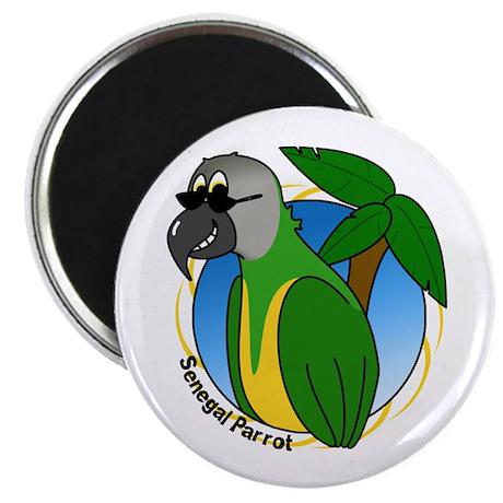 Cartoon Bird Senegal Magnet