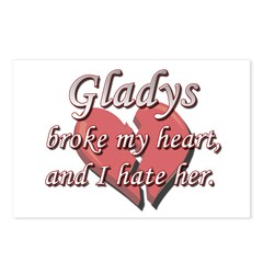 Gladys broke my heart and I hate her Postcards (Pa