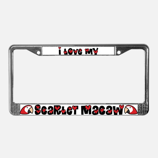 Anime Scarlet Macaw License Plate Frame