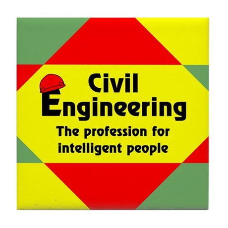 Smart Civil Engineer Tile Coaster