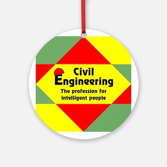 Smart Civil Engineer Ornament (Round)