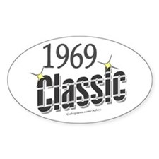 1969 Classic Oval Decal