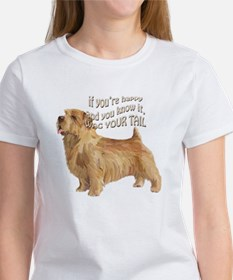 happy norfolk terrier Tee