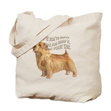 happy norfolk terrier Tote Bag