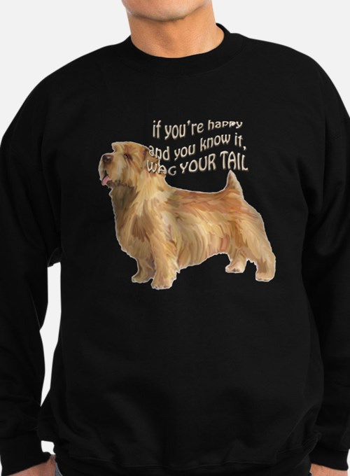 happy norfolk terrier Sweatshirt