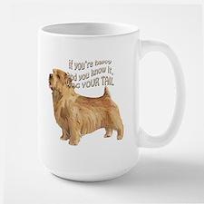 happy norfolk terrier Mug