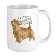 happy norfolk terrier Mug