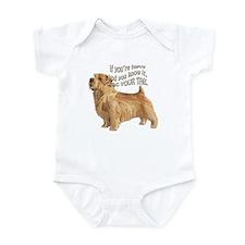 happy norfolk terrier Infant Bodysuit