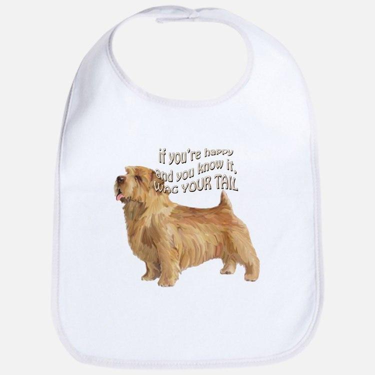 happy norfolk terrier Bib