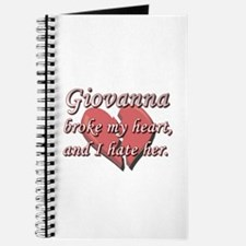 Giovanna broke my heart and I hate her Journal