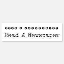 Save a Journalist Bumper Bumper Bumper Sticker
