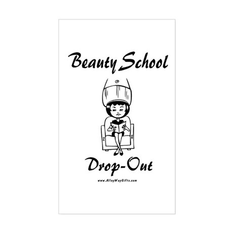 Beauty School Rectangle Sticker