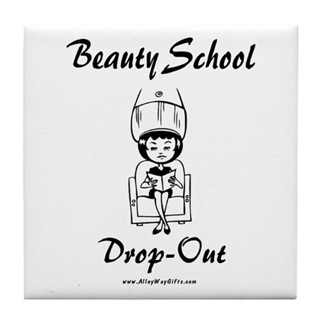 Beauty School Tile Coaster