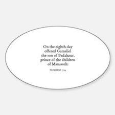 NUMBERS 7:54 Oval Decal