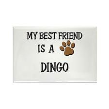 My best friend is a DINGO Rectangle Magnet