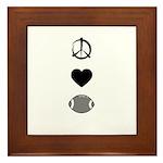 Peace, Love, & Football Framed Tile
