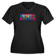 Celebrate Women's Plus Size V-Neck Dark T-Shirt