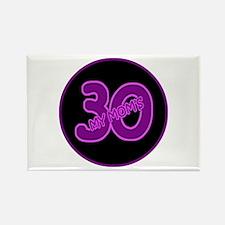 Mom's 30 Rectangle Magnet