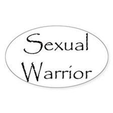 Sexual Warrior Oval Decal