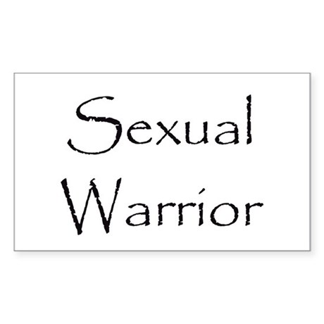 Sexual Warrior Rectangle Sticker