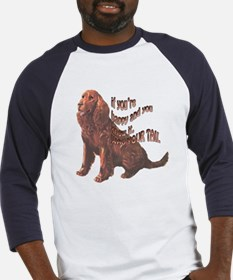 Happy American Water Spaniel Baseball Jersey