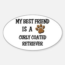 My best friend is a CURLY COATED RETRIEVER Decal