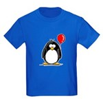 Red Balloon Penguin Kids Dark T-Shirt