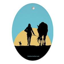 Good Ride Equestrian Oval Ornament