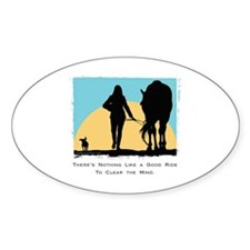 Good Ride Equestrian Oval Decal
