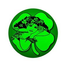 "Shamrock Girl 3.5"" Button"