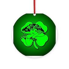 Shamrock Girl Ornament (Round)